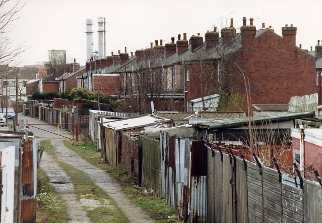 Lock Lane allotments and 'backs'.