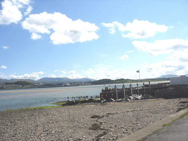The old Caernarfon ferry pier at Tal y Foel seen from the east