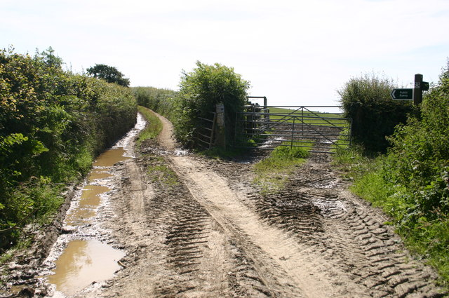 Public byway off Burland Cross