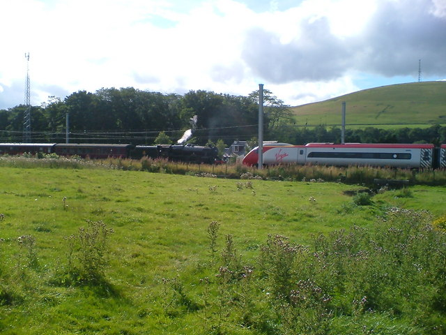 Old meets new on the main railway line