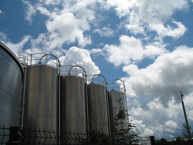 Tanks at Boehringer Ingelheim Pharmaceutical Factory