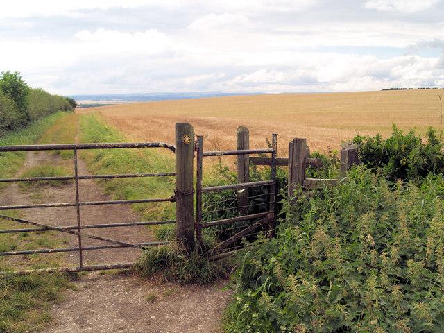 Gate to farmland.