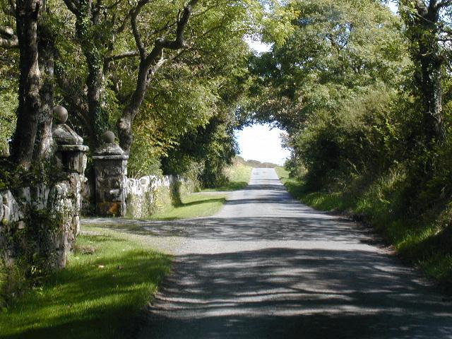 Gateposts to Haroldston Hall