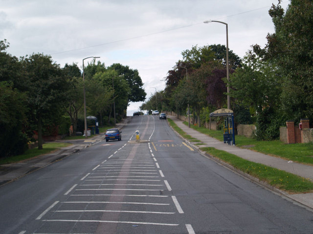 Bus shelter on the B6060 at Wickersley.