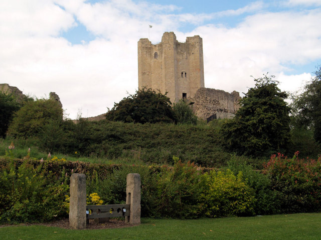 Conisbrough castle and stocks