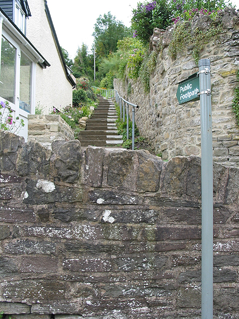 Start of the footpath in Lower Lydbrook