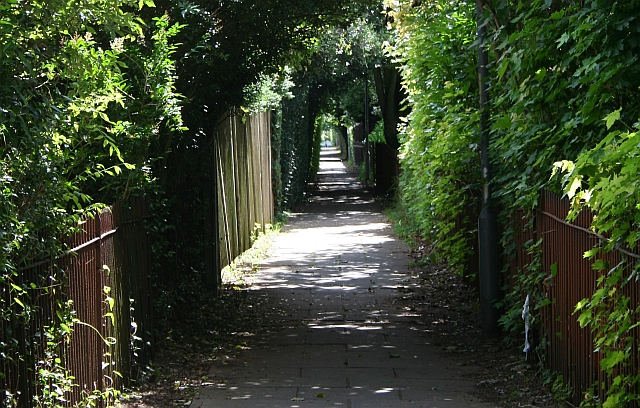 Footpath, Hanbury Park, Worcester.