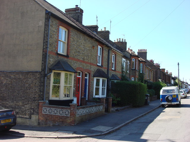 Terraced housing on Ellesmere Road