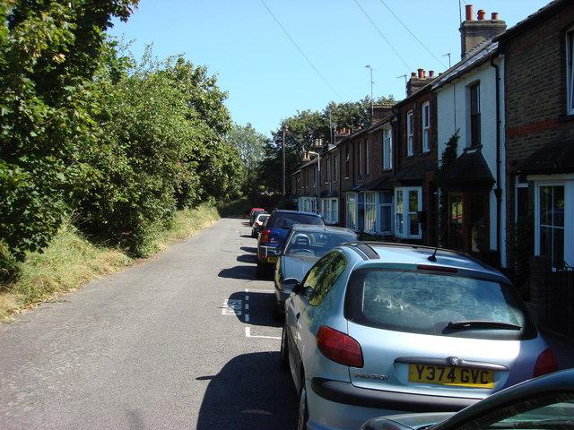 The end of Ellesmere Road