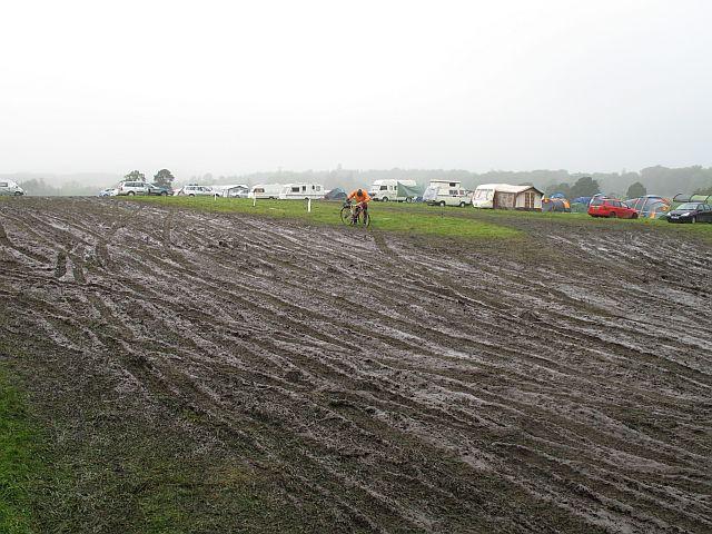 Cut up field near Castle Grant