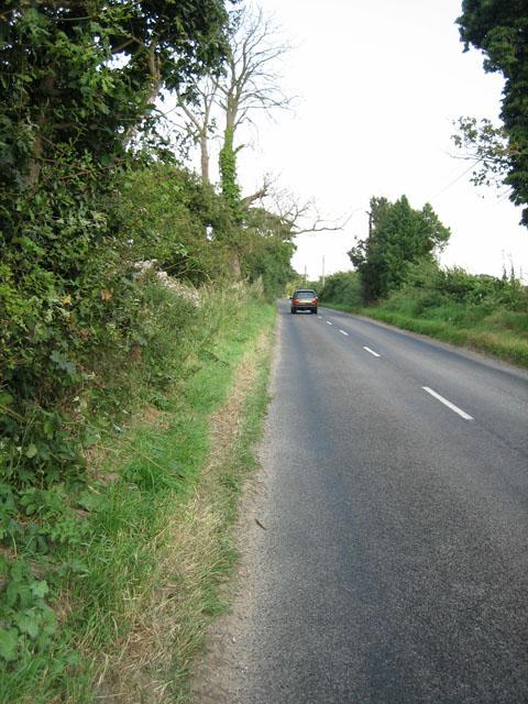 At speed down the Roman Road near North Elmham