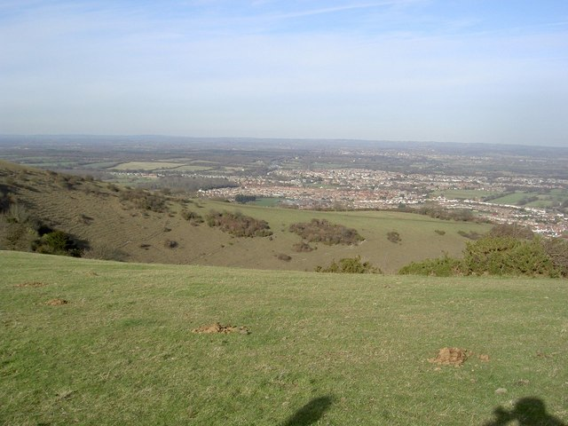 From Butts Brow, looking down to Willingdon