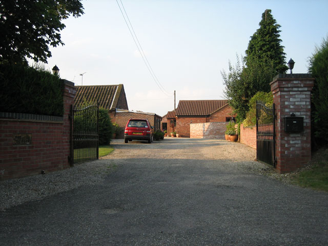 Entrance to Oak Farm, Bylaugh