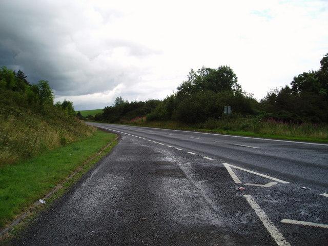 A75 Gretna-Stranraer Road near Twynholm.