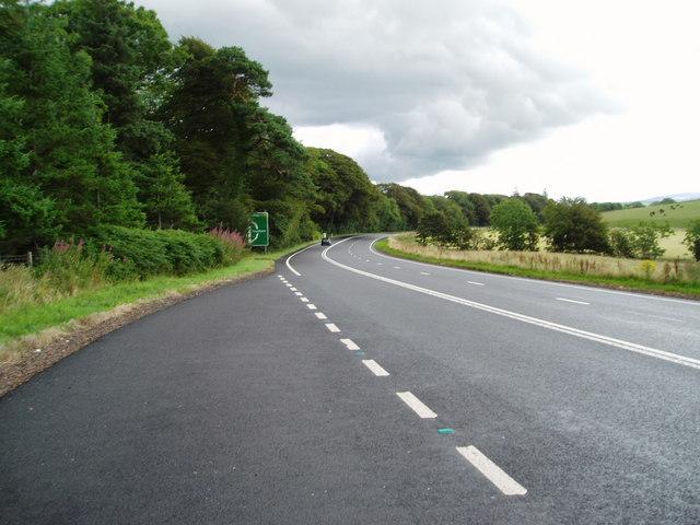A75 Gretna-Stranraer Road near Barluka, Twynholm.
