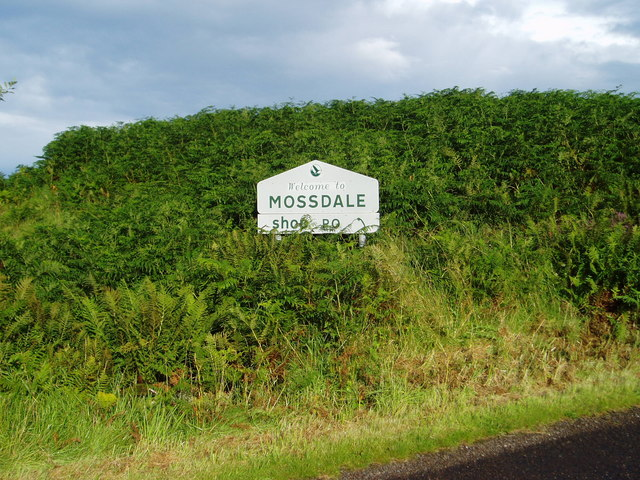 Mossdale Village Sign.