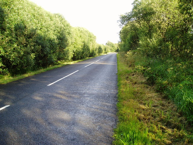 A762 New Galloway-Kirkcudbright Road near Laurieston.