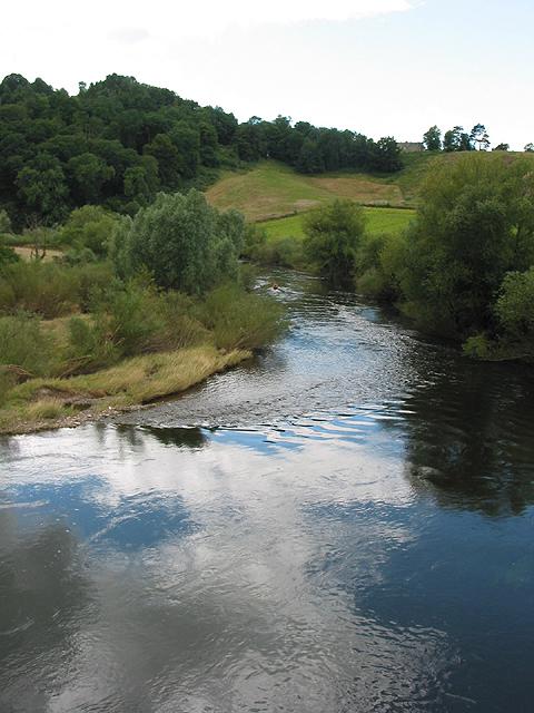 River Wye winding downstream from Kerne Bridge