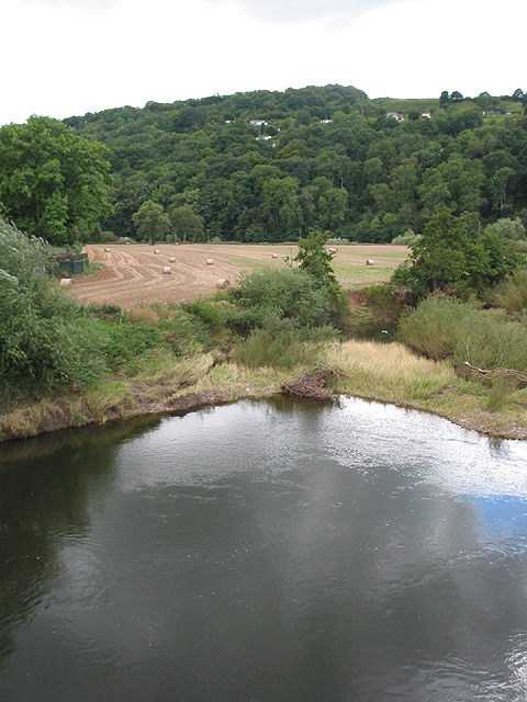 Looking south from Kerne Bridge over the Wye