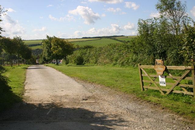 Road down to Wigmore farm