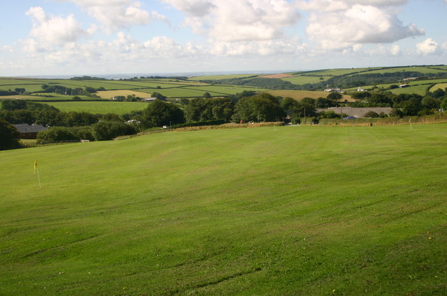 Looking across the golf range to East Stowford Barton holiday complex