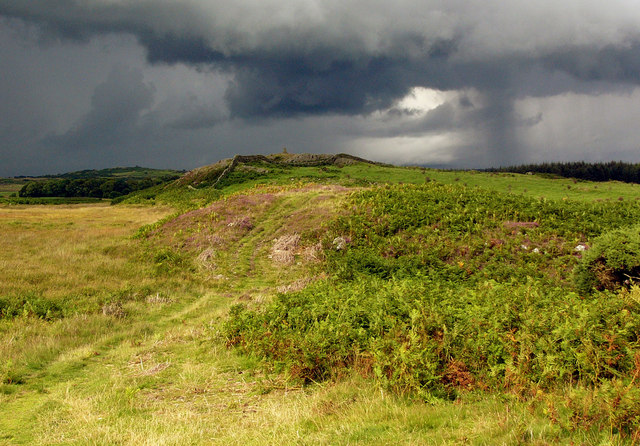Meikle Craig and approaching stormclouds.