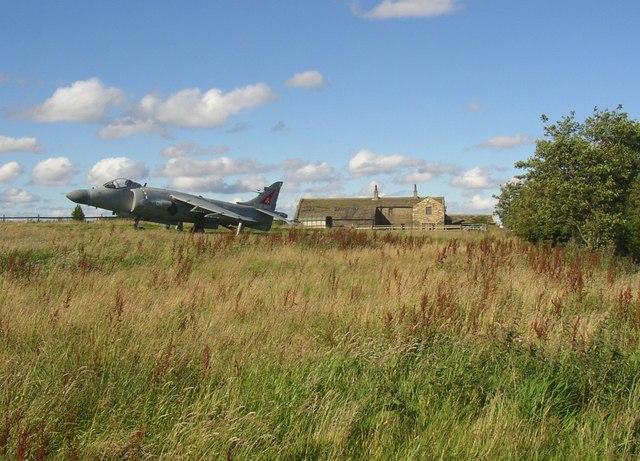 Aeroplane at Raggalds Farm, Brighouse and Denholme Road, Thornton