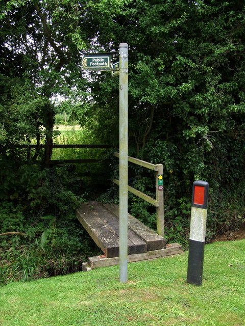 Footpath junction, Moorby