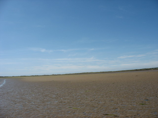 View westwards across the sandbank