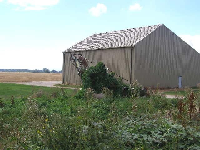 Derelict potato harvester, Northorpe Fen