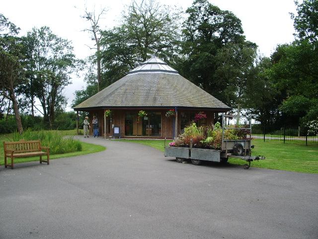 Ticket shop at Muncaster Castle