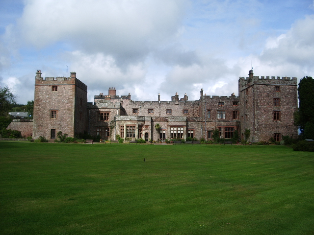 South west front of Muncaster Castle