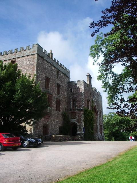 South east front of Muncaster Castle
