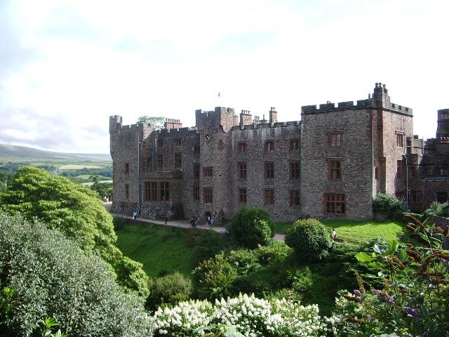 North east front of Muncaster Castle