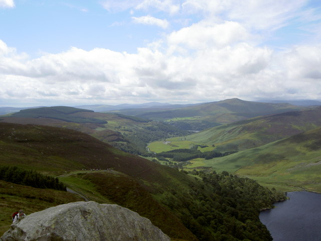 View of the valley between Lough Tay and Lough Dan