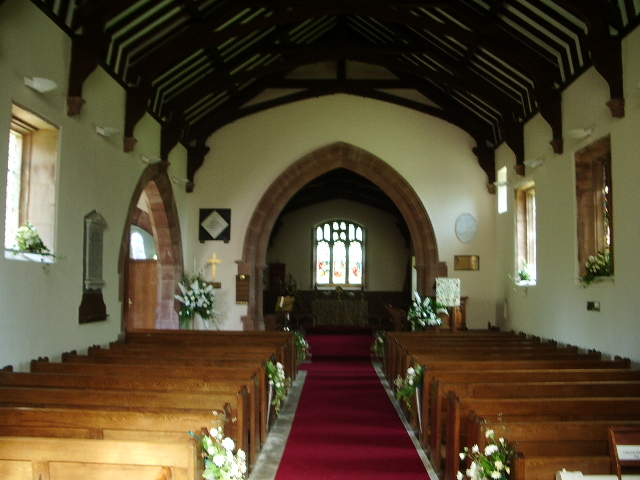 Interior, St Michael and All Angels Church, Muncaster