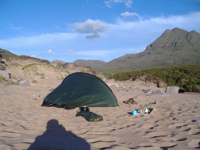 Beach , head of Loch a' Bhealaich