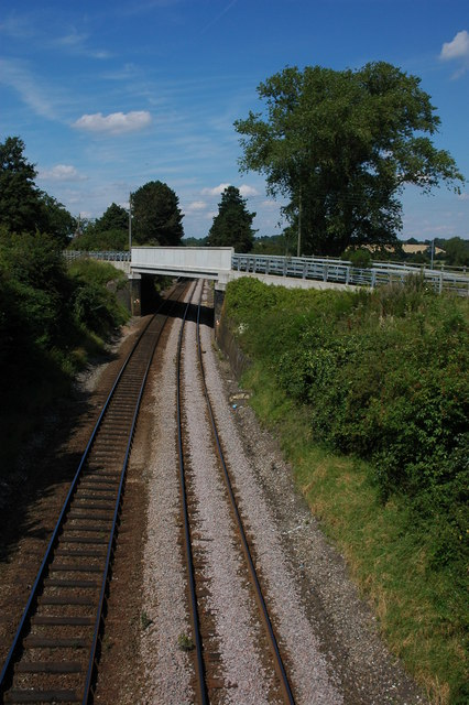 The railway at Danzey Green