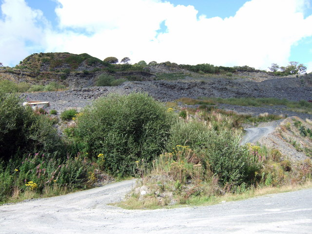 Old slate quarry at Glogue
