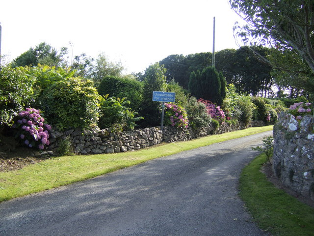 Floral entrance to Carew Farm