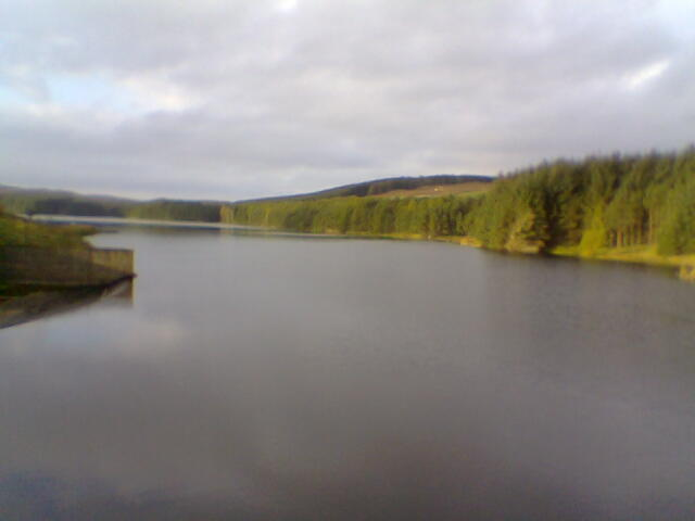 Looking up Alemoor Reservoir from the Dam.