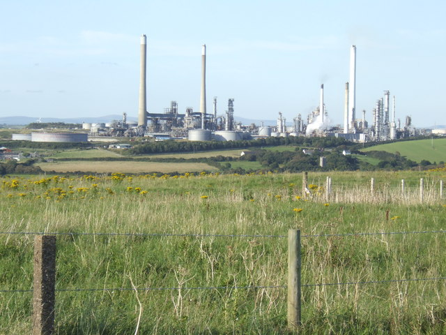 Rough grazing land and Popton refinery