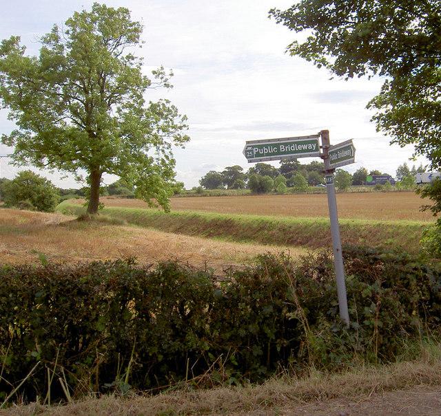 Bridleway sign.