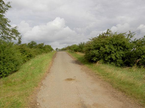 Farm track over M18