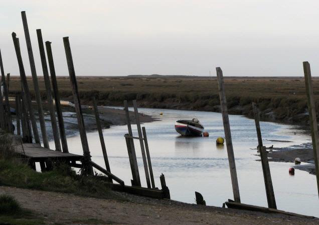 Salt marshes at Morston