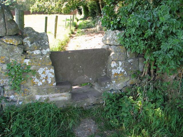 Stone stile on the Gloucestershire Way