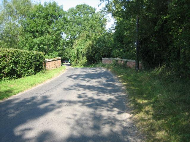 Bridge into Gressenhall near Norfolk Herbs