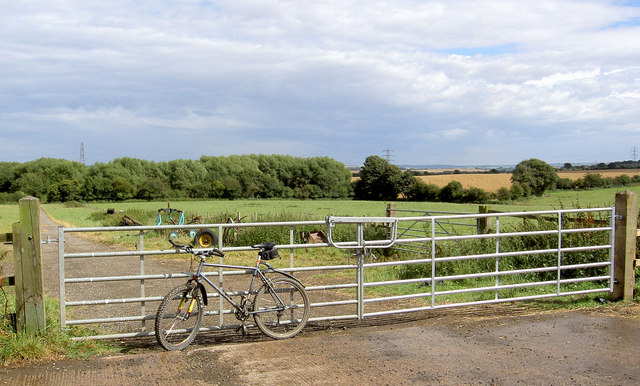 Gate into farmland.
