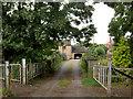 SE3905 : Gates to Tyers Hall cottage. by Steve  Fareham