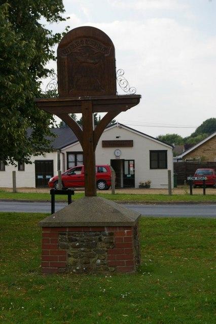 Wimbotsham village sign